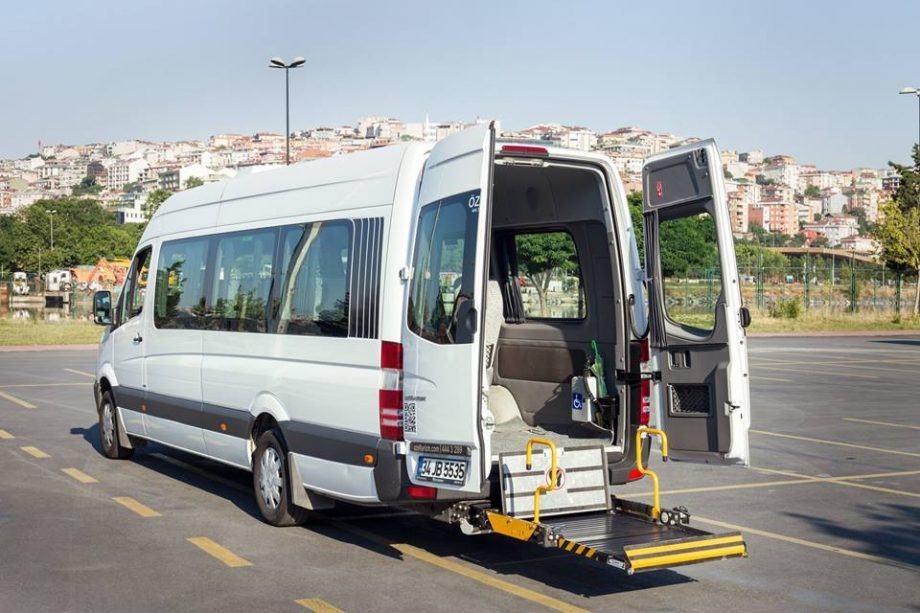 Wheelchair accessible minivan hire Istanbul
