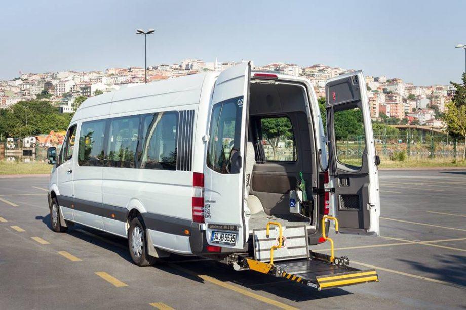 Wheelchair accessible minivan hire Istanbul